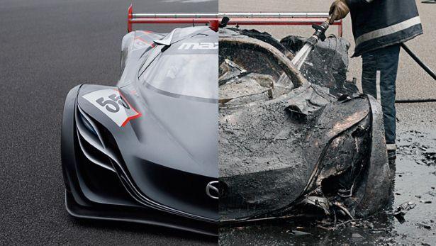 Mazda Furai burnt