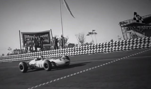 Honda RA272 Mexican Grand Prix finish line