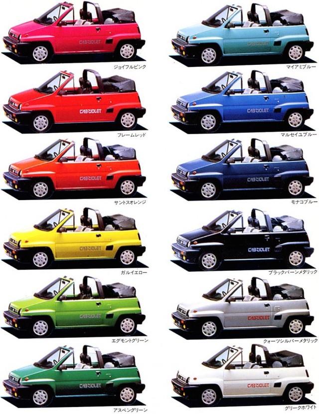 Honda City Cabriolet colors