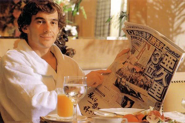 Ayrton Senna Japanese newspaper