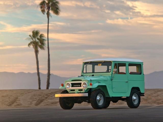 1966 Toyota Land Cruiser FJ40 spring green