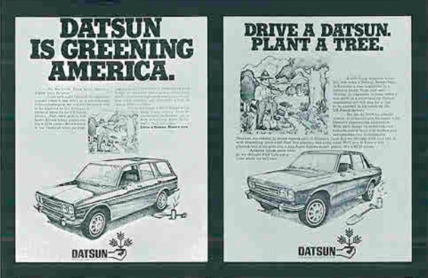 Drive a Datsun, Plant a Tree
