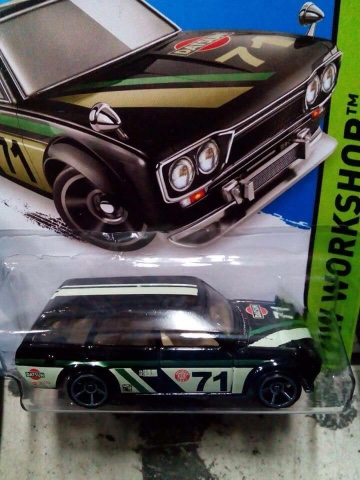 2015 Hot Wheels Datsun 510 Bluebird Wagon - black