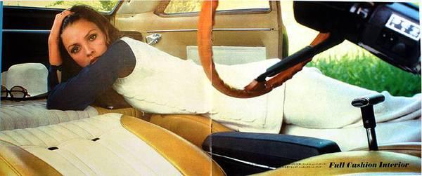 Nissan 510 Bluebird Coupe fold flat interior