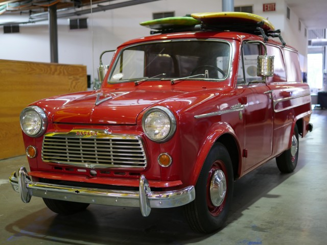 Produced for only one year, the VG223 had the dimensions of a compact wagon. It was a rare sight in the U.S. market, with only 269 Datsun trucks imported in total, and most of those being pickups. Surfboards were not included with the purchase price.