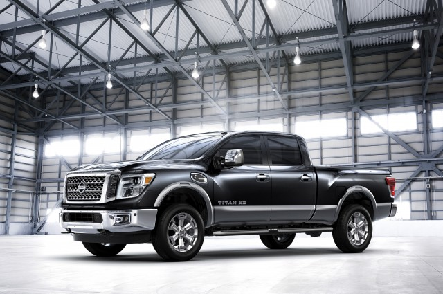 The 2016 Nissan TITAN XD, which made its world debut at the 2015 North American International Auto Show in Detroit, is set to shake up the highly competitive full-size pickup segment when it goes on sale in the United States and Canada beginning in late 2015 - with a bold all-new design that stakes out a unique position in the segment between traditional heavy-duty and light-duty entries.