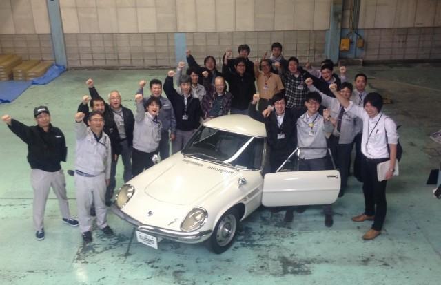 Mazda Cosmo Sport high school restoration 01