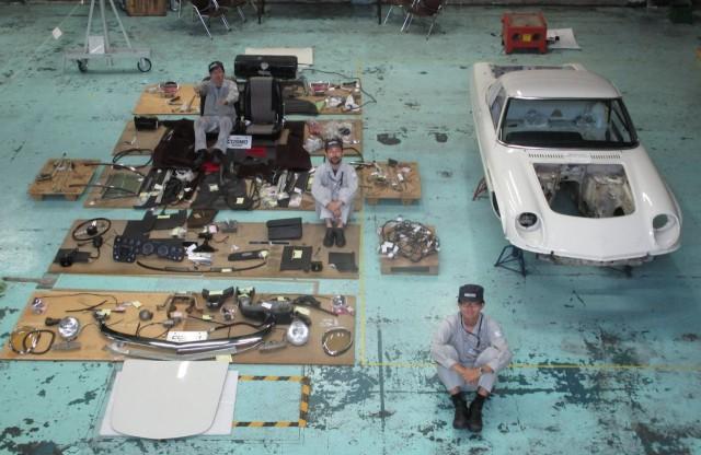 Mazda Cosmo Sport high school restoration 07
