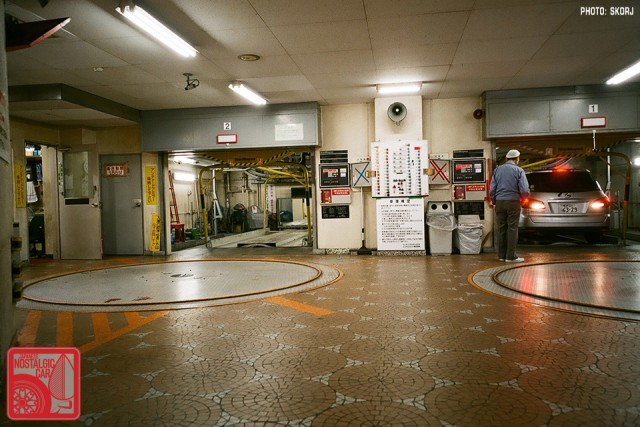 Parking in Japan 03 Stacking Lot turntables
