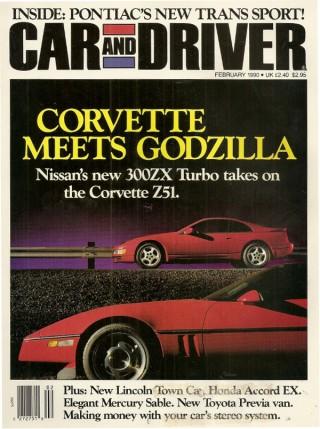 Car & Driver February 1990 Nissan 300ZX vs Corvette