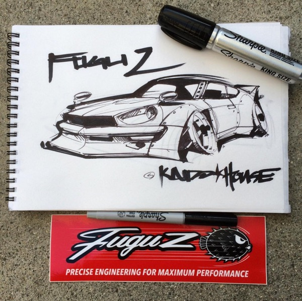 Hot Wheels Nissan Datsun Fugu Z sketch