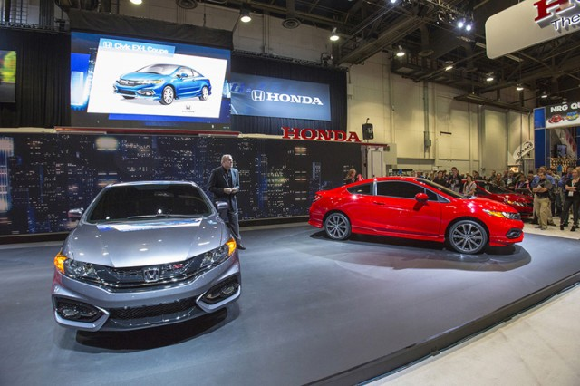 John Mendel, executive vice president of sales at American Honda reveals the 2014 Civic Coupe at SEMA.