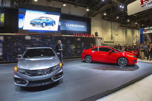 John Mendel, executive vice president of sales at American Honda reveals the 2014 Civic Coupe at SEMA.