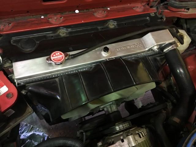 Koyorad FB Mazda RX7 radiator fitment