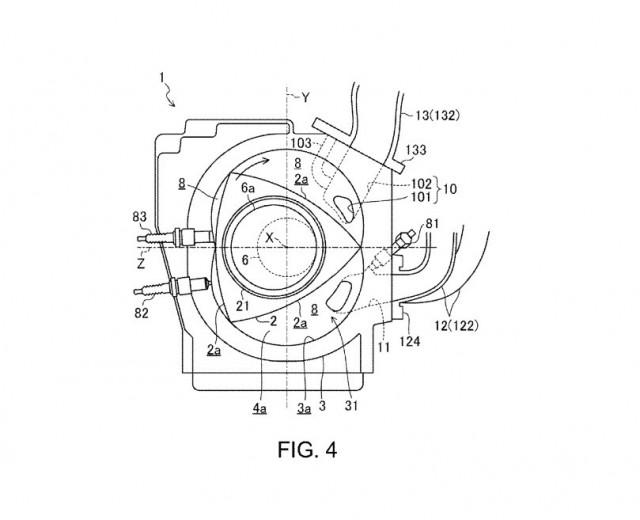 Mazda SkyActiv-R rotary engine patent drawing 04