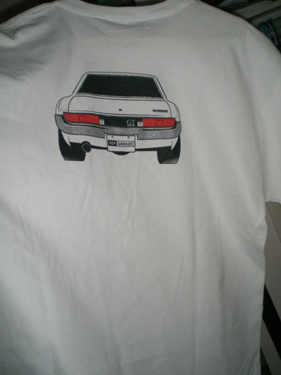 celica shirt back
