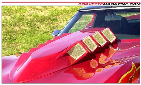 Corvette Stingray Logo. by a giant Stingray logo