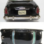 bandai tin toyota crown s30 1960 - black copy
