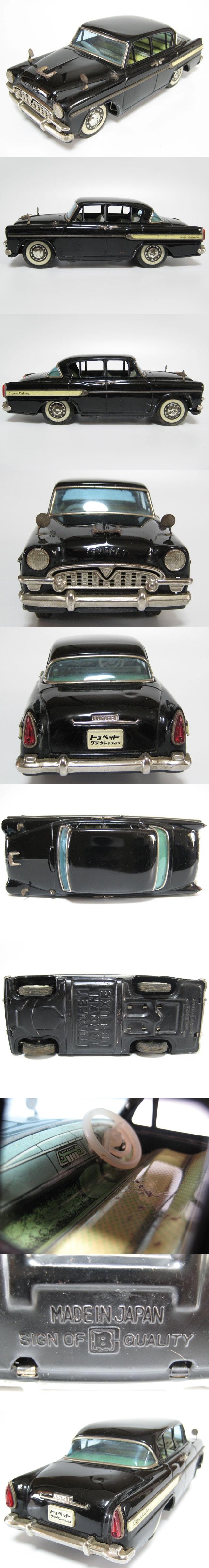 bandai tin toyota crown s30 1960 - black copy