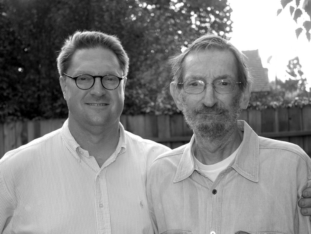 The author (in 2008) with his son, E. John Thawley III