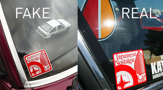 Is your jnc sticker real japanese nostalgic car