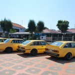 retro car thailand bangkok yellow gang