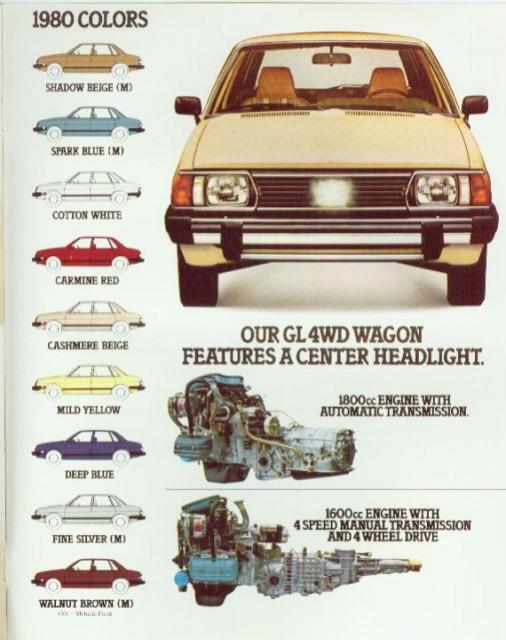 1980 subaru gl brochure