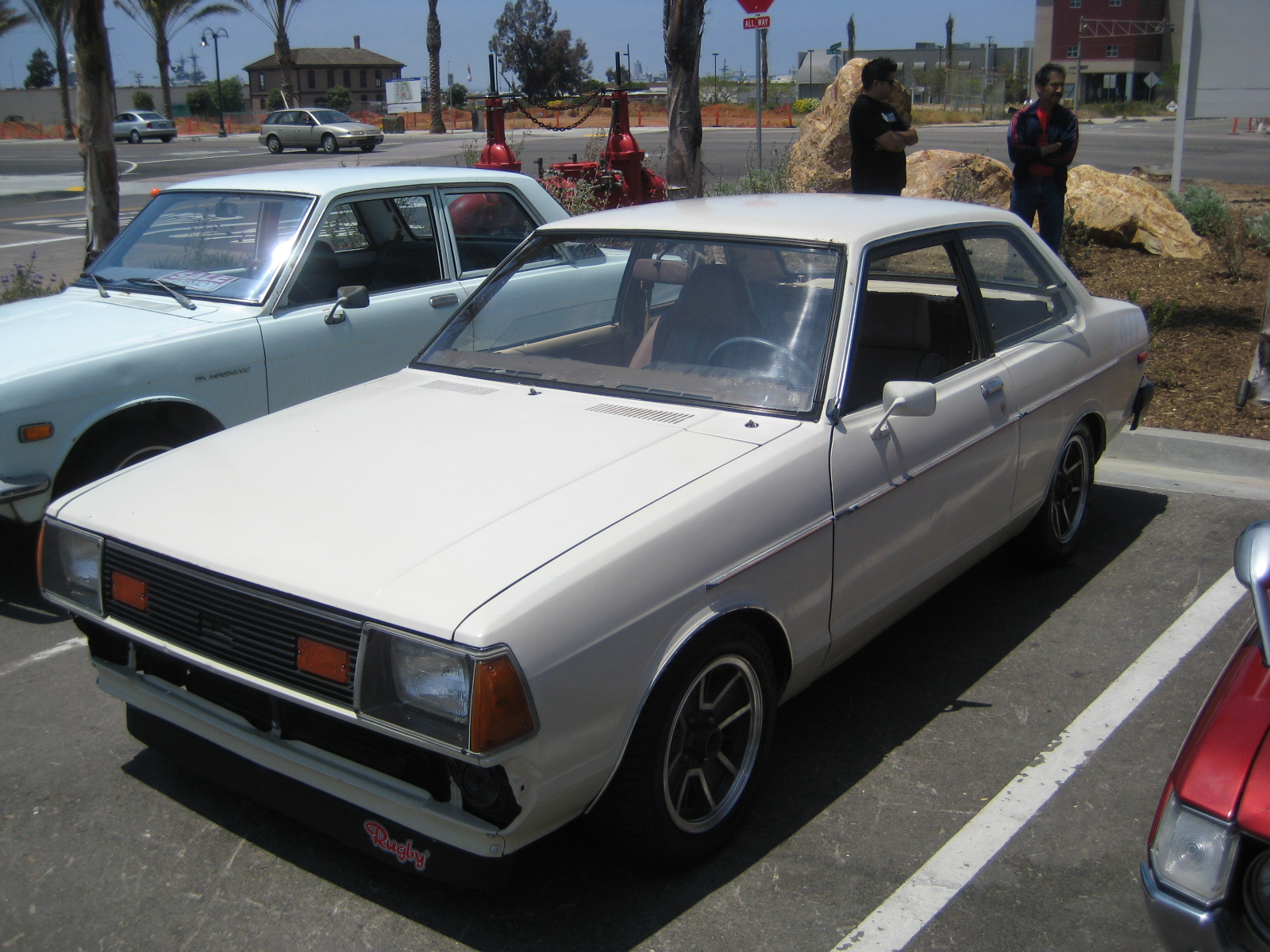 my first car the datsun 210 2 door coupe my didnt have those