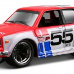 maisto-55 datsun 510 - red, white, BRE