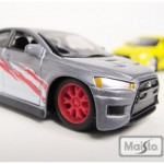 maisto-55 mitsubishi lancer evoX - gray, red, white