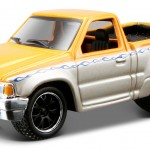 maisto-55 toyota pickup - orange, silver