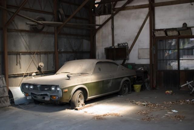 abandoned Mazda Luce RX-4