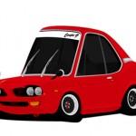 Superdeformed Honda Coupe 9 racing