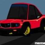Superdeformed Mazda Savanna RX-3