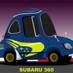 Superdeformed Subaru 360 WRC