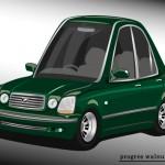 Superdeformed Toyota Progres green