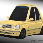 Superdeformed Toyota Progres yellow