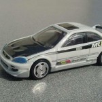 scalemaster custom hot wheels honda civic si - white, black 1