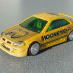 scalemaster custom hot wheels honda civic si - yellow, 'mooneyes' 1