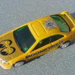 scalemaster custom hot wheels honda civic si - yellow, 'mooneyes' 2