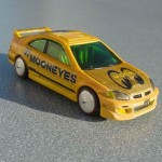 scalemaster custom hot wheels honda civic si - yellow, 'mooneyes' 3
