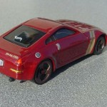 scalemaster custom hot wheels nissan 350z - maroon, gold 1