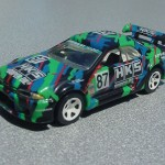 scalemaster custom hot wheels nissan skyline gt-r - black, green, hks 3