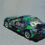 scalemaster custom hot wheels nissan skyline gt-r - black, green, hks 4