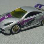 scalemaster custom hot wheels toyota celica - silver, purple