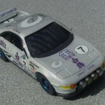 scalemaster custom hot wheels toyota mr2 - white, silver, blue 2