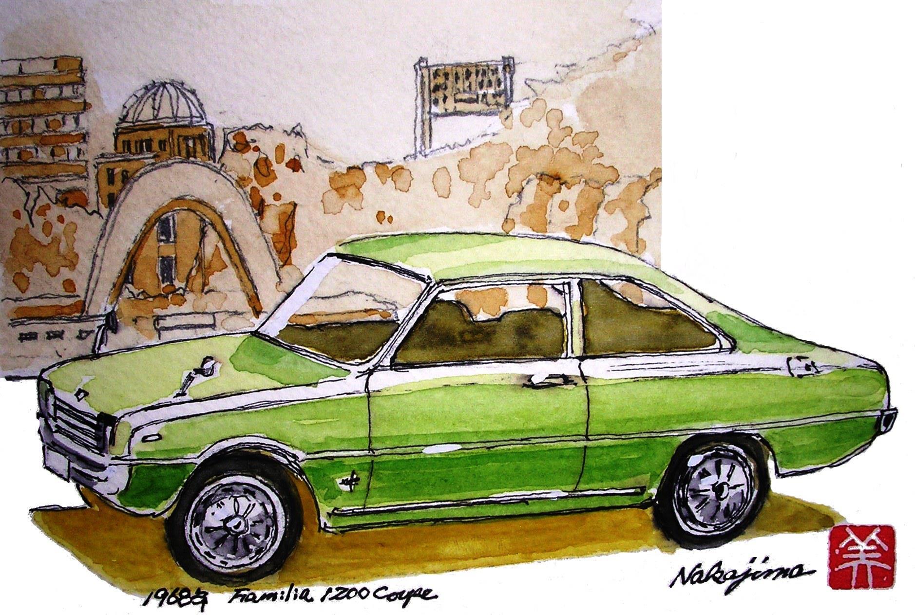 Wednesday Wall: Mazda watercolors by Miki Nakajima