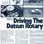 1972 Datsun Sunny RE article