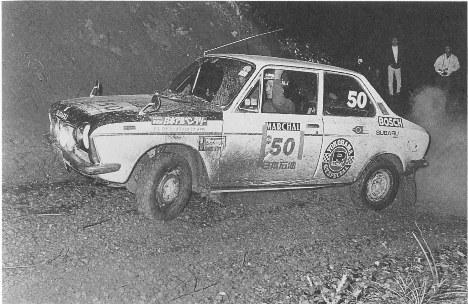 Subaru FF-1 1974 alpine Rally team Mizushima