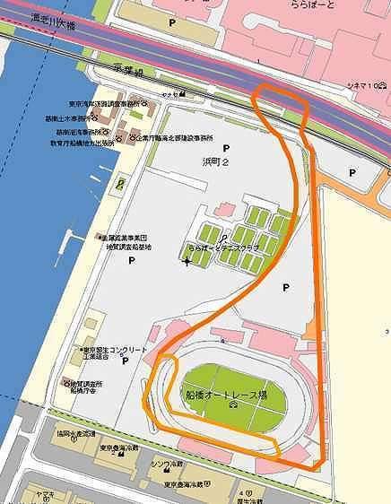 Funabashi Circuit Map